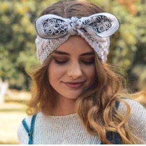 Ivory bow headband